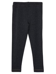 Leggings de color gris oscuro para niña JYAESLEG3 / 20SI0161D26944