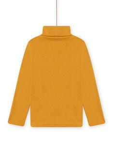 Jersey fino amarillo con estampado de animales fantasía para niño MOSAUSOUP / 21W902P1SPLB107