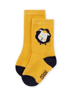 Calcetines amarillos con estampado de oveja para bebé niño MYUJOCHOU3 / 21WI1016SOQ117
