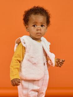 Chaleco de color crudo de pelo artificial para bebé niña MISAUCAR1 / 21WG09P1CAR001