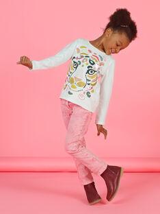 Vaquero rosa efecto acid wash para niña MAKAJEAN / 21W901I1JEAD305