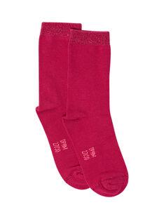 Calcetines de color fucsia para niña MYAJOCHO2 / 21WI0117SOQD312
