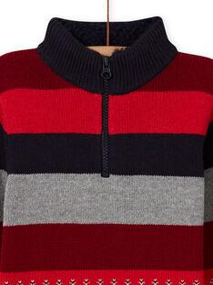 Jersey de punto de rayas y con estampado paisley para niño MOFUNPUL / 21W902M1PULC234