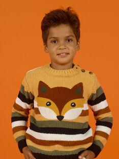 Jersey de rayas de punto chenilla para niño MOSAUPUL / 21W902P1PULB107