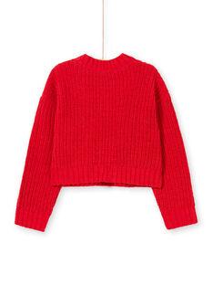 Cárdigan de color rojo para niña MACOMCAR1 / 21W901L2CAR408