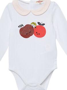 Body de color crudo de manga larga para bebé niña JIVIBODY / 20SG09D1BOD001