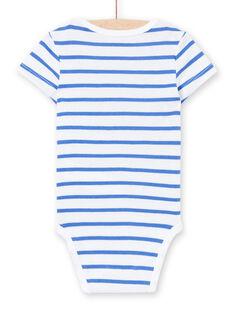 Body blanco, con estampado, para bebé niño LEGABODMOU / 21SH14G1BDL000