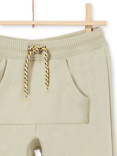 Pantalón de chándal caqui para niño MOKAJOG1 / 21W902I1JGB612