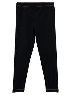 Leggings de color negro para niña JYAESLEG1 / 20SI0162D26090