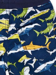 Bermudas con estampado de color azul para bebé niño LONAUBER / 21S902P1BER070