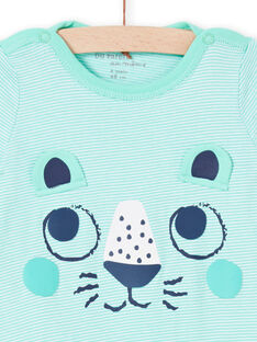 Pelele de color verde agua para bebé niño MEGAGRELIO / 21WH1431GREG626