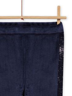 Leggings de color azul marino forrados para niña MAJOLEG5 / 21W901N7PAN070