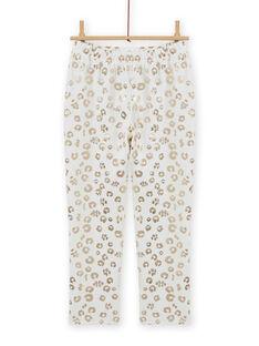 Pijama de terciopelo con estampado de leopardo para niña MEFAPYJFEL / 21WH1198PYJ001