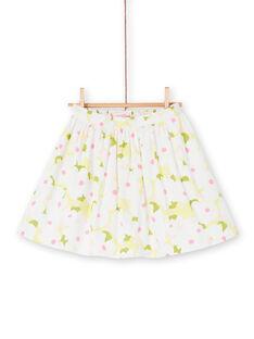 Falda blanca y verde con estampado floral LAJAUJUP2 / 21S901O1JUP000