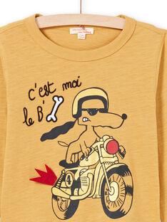 Camiseta de color mostaza para niño MOMIXTEE3 / 21W902J5TMLB101