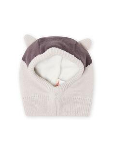 Pasamontañas gris con estampado de mapache para bebé niño MYUSAUBON2 / 21WI1065BONJ920