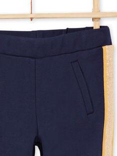 Pantalón de color azul noche de rayas para niña MAJOMIL1 / 21W90117PANC205