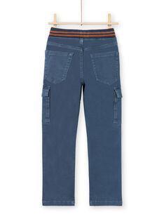 Pantalón azul con bolsillos para niño MOJOPAMAT3 / 21W90221PANC202