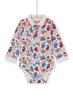 Body con cuello, manga larga y estampado de dinosaurios para bebé niño MUPABOD / 21WG10H1BOD943