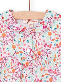 Blusa rosa y naranja con estampado foral, para bebé niña LIVICHEM / 21SG09U1BLU000