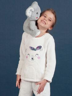 Pijama de soft boa con estampado de koala para niña MEFAPYJKOA / 21WH1199PYJ001