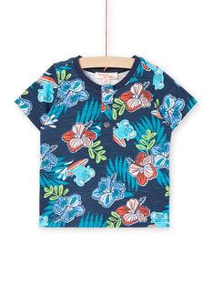 Camiseta de manga corta de color azul, para bebé niño LUBONTUN / 21SG10W1TMC717