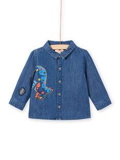 Camisa vaquera de manga larga con estampado de dinosaurio para bebé niño MUPACHEM / 21WG10H1CHMP274