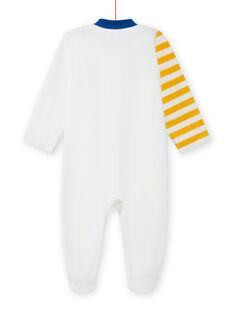 Pelele de color crudo con estampado de animales para bebé niño MEGAGREFER / 21WH1433GRE001