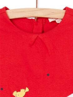 Vestido rojo para bebé niña LIHAROB3 / 21SG09X2ROB505