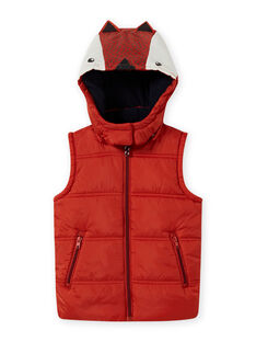 Chaleco con capucha y estampado de zorro para niño MOGRODOU2 / 21W90251BLOE402