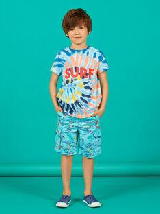 Camiseta de manga corta de color azul, para niño LOBONTI1 / 21S902W2TMCC201