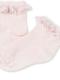 Calcetines de color rosa pastel para bebé niña KYIESCHODEN3 / 20WI0982SOQD310