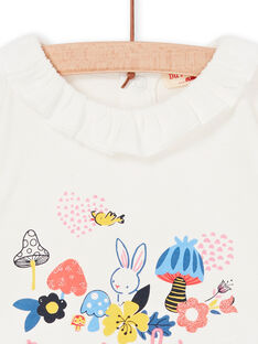Camiseta de color crudo para bebé niña LIHABRA / 21SG09X1BRA001