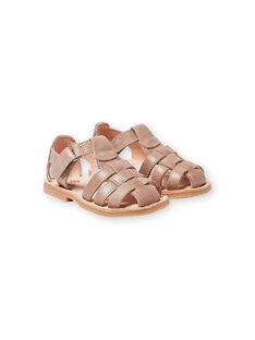 Sandalias de color topo para bebé niño LBGSANDTEO / 21KK3857D0E803
