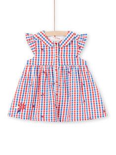 Vestido camisero de cuadros para bebé niña LICANROB3 / 21SG09M3ROB001