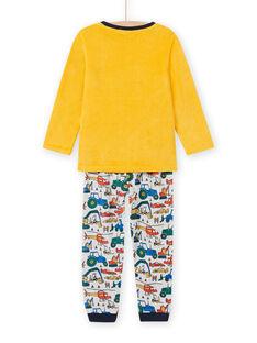 Pijama bicolor estampado de vehículos para niño MEGOPYJVOI / 21WH1298PYJ113