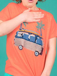 Camiseta naranja flúor para niño LOBONTI2 / 21S902W5TMCE411