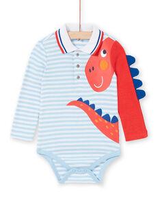Body de rayas de color azul para bebé niño LUCANBOD / 21SG10M1BOD000