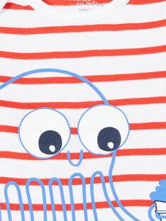 Body de manga corta, con estampado de pulpo, para niño LEGABODPIE / 21SH1426BDL000