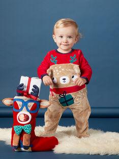 Pelele con estampado de oso de Navidad con gorro para bebé niño KEGAGRENO / 20WH14R1GREF529