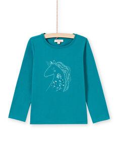 Camiseta turquesa oscuro para niña MAJOYTEE6 / 21W9012ATMLC217