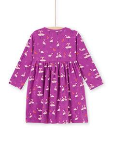 Camisón violeta con estampado de flamencos y sandías para niña MEFACHUFLA / 21WH1131CHN712