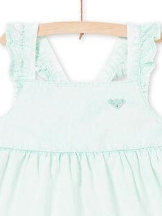 Vestido de color menta al agua para niña LAVEROB5 / 21S901Q5ROBG621