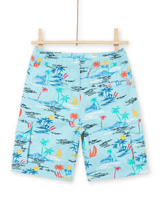 Bermudas de color turquesa para niño LOBONBER1 / 21S902W1BERC201