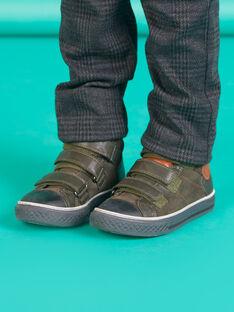 Zapatillas altas de piel vuelta de color verde caqui para niño MOBASTRIVKAKI / 21XK3673D3F604