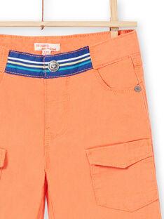 Bermudas de color naranja para niño JOMARBER2 / 20S902P2BERE405