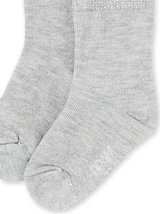 Calcetines de color gris jaspeado para bebé niña KYIESCHO4 / 20WI0987SOQJ920