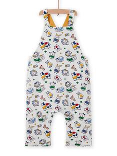 Peto reversible amarillo con estampado animal para bebé niño MUMIXSAL / 21WG10J1SAL001