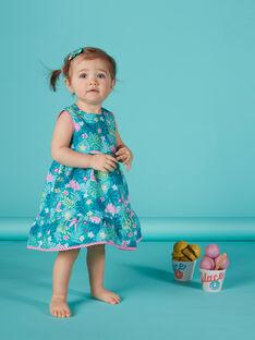 Vestido estampado para niña recién nacida JIQUAROB1 / 20SG09R2ROB621