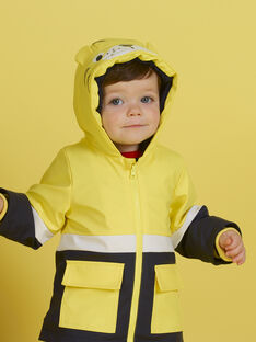 Impermeable amarillo con estampado de tigre para bebé niño MUGROIMP / 21WG1051IMP102